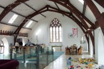 finished church conversion interior photo
