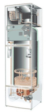 illustration of ground source heat pump with heat recovery