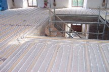 suspended timber underfloor heating pipes 2