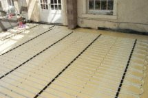 photo of underfloor heating in a conservatory