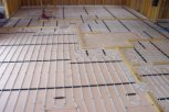 photo of underfloor heating in beam and block floor