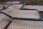 photo of underfloor heating in a structural slab floor