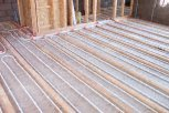 photo of underfloor heating in a suspended timber upper floor