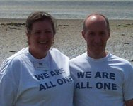 photo of the Directors wearing We Are All One T-shirts